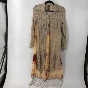 Arrata Silent Journey Floral Linen Tunic Dress